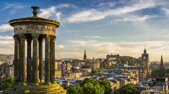 Uitzicht op Edinburgh, Schotland