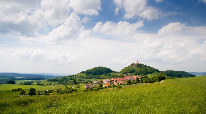 Kasteel Leuchtenburg platteland Thuringen