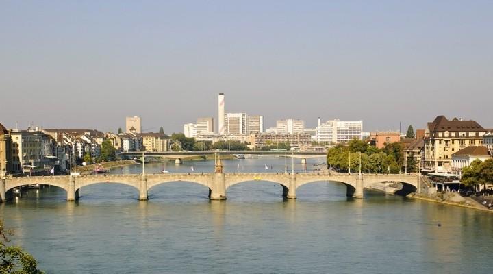Basel aan de Rijn in Zwitserland