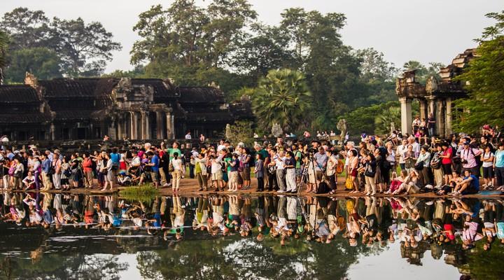 Toeristen in Angkor
