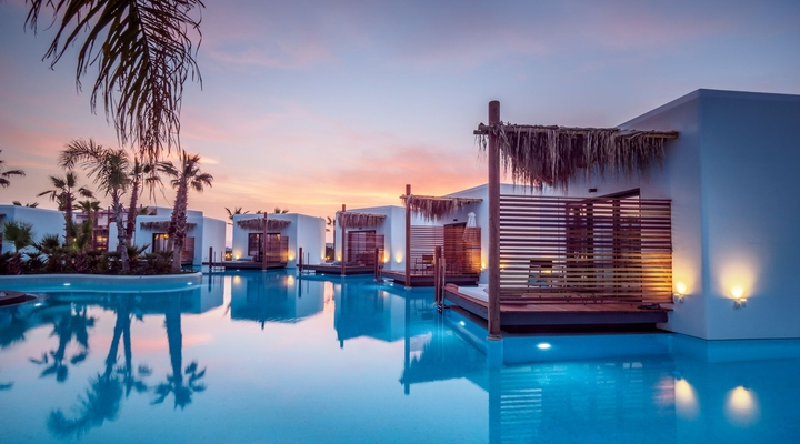 Stella Island Resort heeft swim up kamers