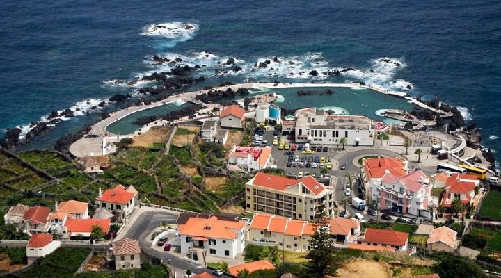 Porto Moniz, plaatsje Madeira, Portugal