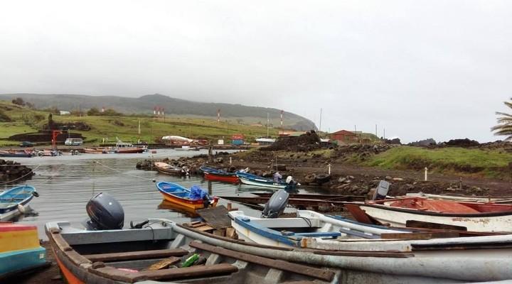 De haven van Hanga Roa