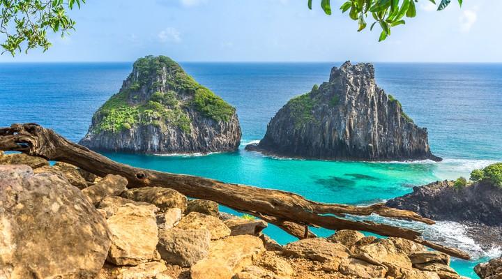 Uitzicht vanaf het eiland