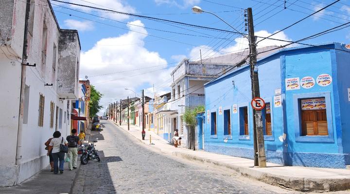 Kleurrijke huizen in Olinda