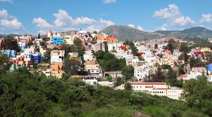 Kleurrijke stad Guanajuato, Mexico
