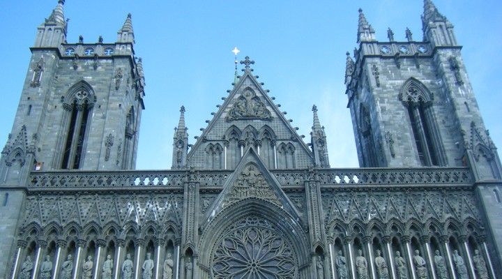 De oude kathedraal