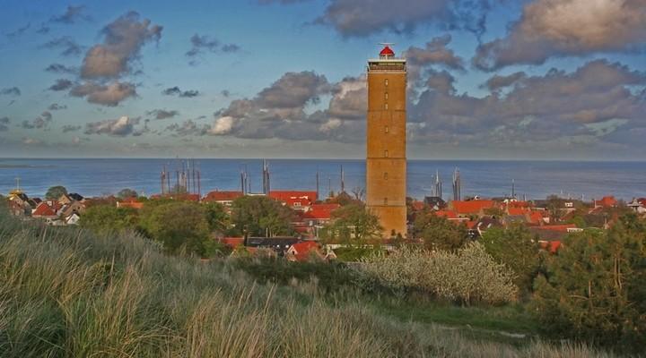 Toren op een van de Waddeneilanden