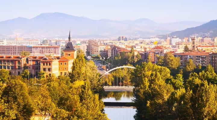Zonnige dag in Pamplona - Spanje