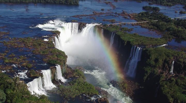 watervallen Foz de Iguacu Brazilie