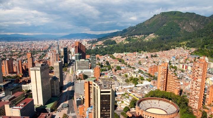 Uitzicht op Bogota, Colombia