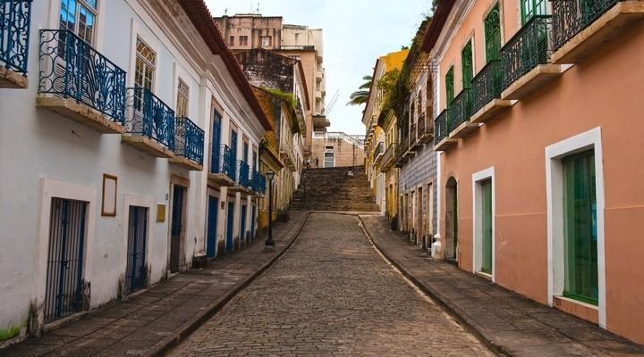 Straat van het historische centrum van São Luis