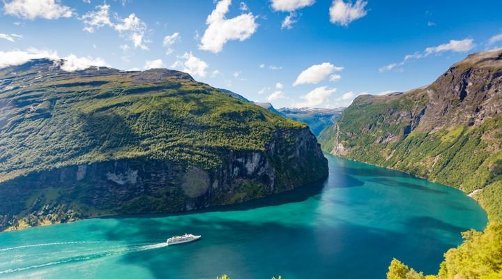 Geirangerfjord in Noorwegen