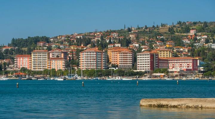 Portoroz aan de Adriatische Zee