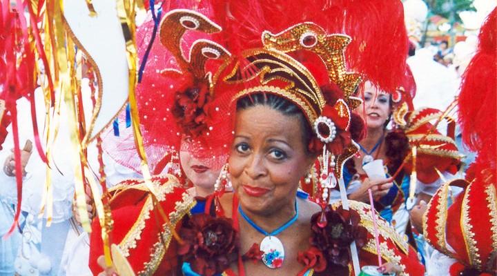 Carnaval Brazilie, Braziliaanse vrouw verkleed