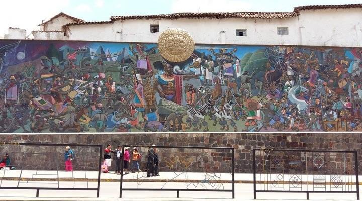 Muurschilderingen in Cuzco