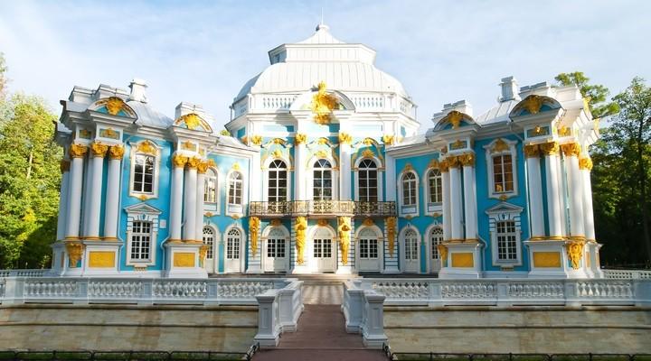 Hermitage in park Sint-Petersburg, Rusland