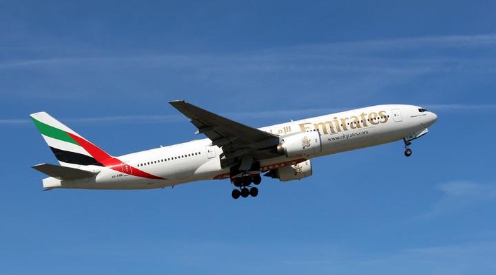 Emirates vliegtuig