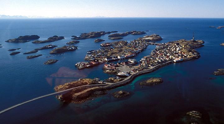 De Lofoten in Noorwegen