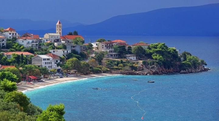 Kustlijn Gradac, Kroatie
