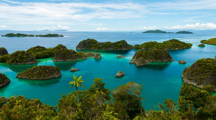 Raja Ampat eilanden in Indonesië
