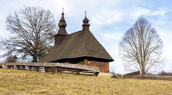 Houten kerk, Hrabova Roztoka, Slowakije