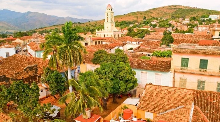 Authentieke huizen in de koloniale stad Trinidad