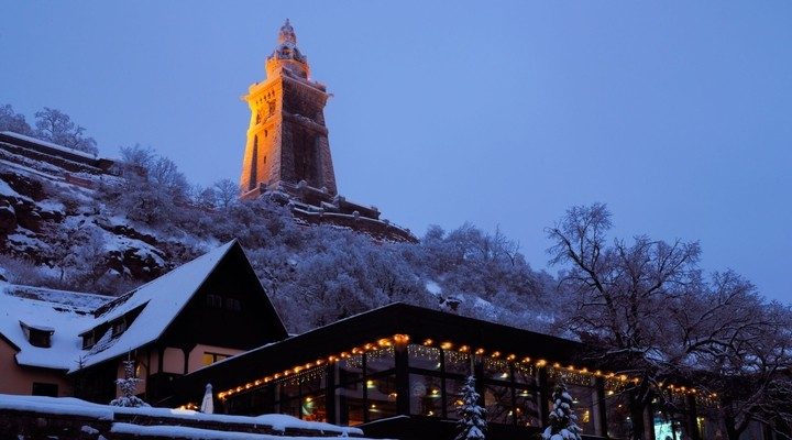 Monument Thuringen winter Duitsland sneeuw