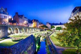 Kunst en historiestad Vannes, Frankrijk, Bretagne