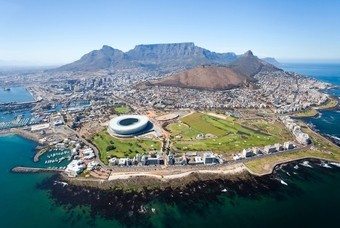 Kaapstad met op de achtergrond de Tafelberg