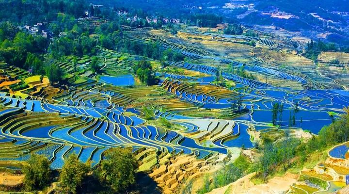 De Yuanyang rijstterrassen
