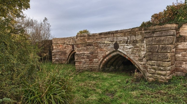 Oude brug bij Swarkestone, Derby Engeland