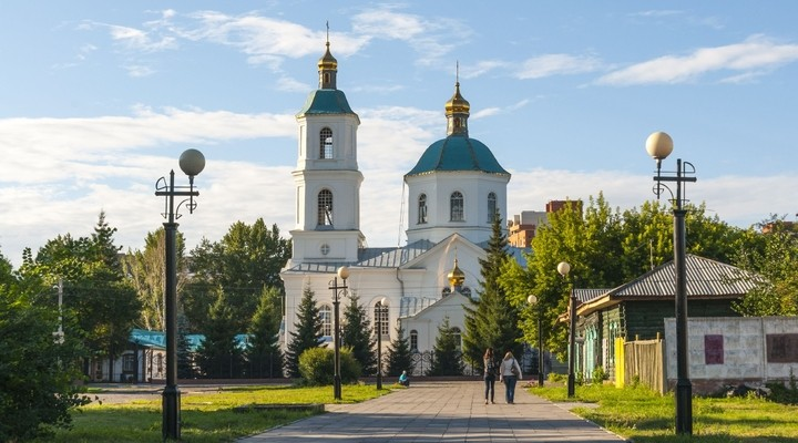 Historische centrum van Omsk, Rusland