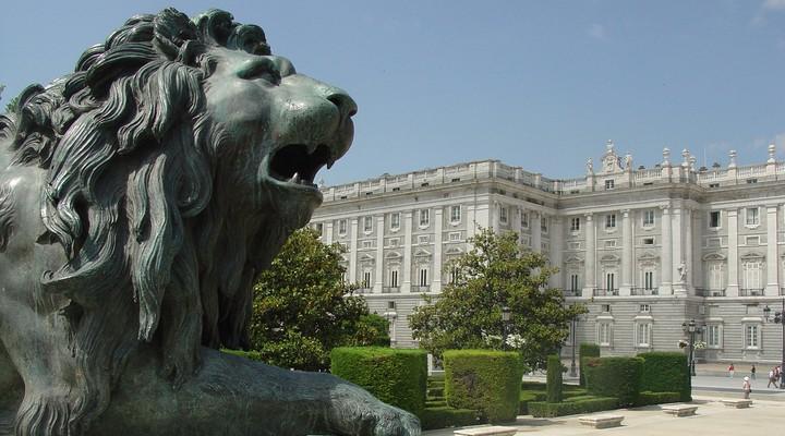 Leeuwenkop in Madrid - Spanje