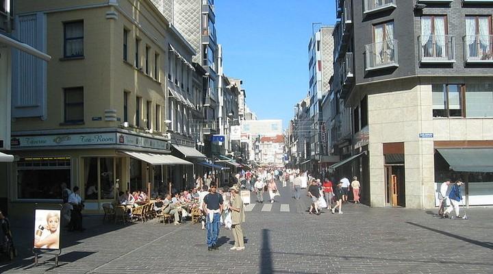 Winkelstraat Oostende, Belgie