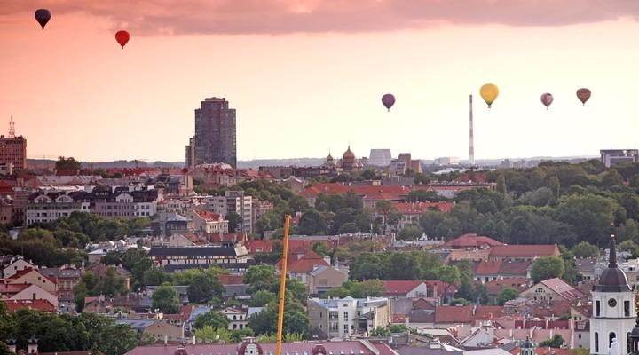 De hoofdstad Vilnius
