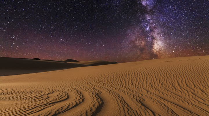 Sterrenhemel in de Sahara, Marokko