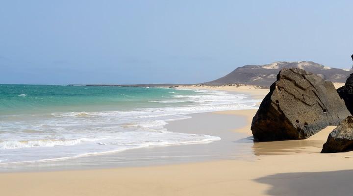 Een van de stranden op Boa Vista