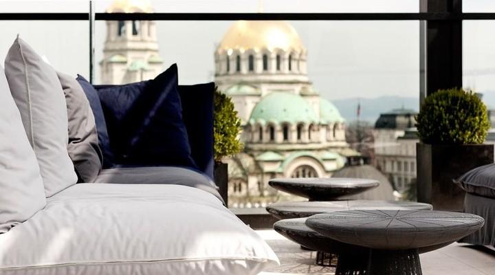 Uitzicht vanuit het Sense Hotel Sofia