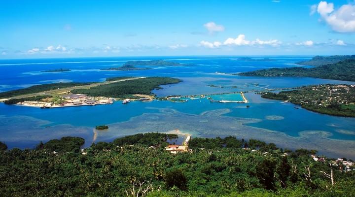 Landschap en zee Micronesia