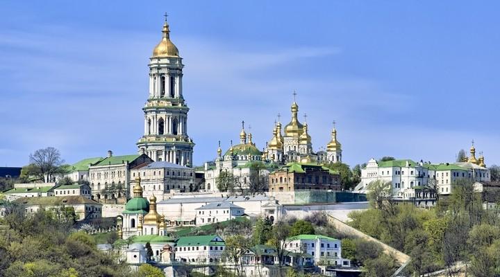 Uitzicht over Kiev, Oekraine