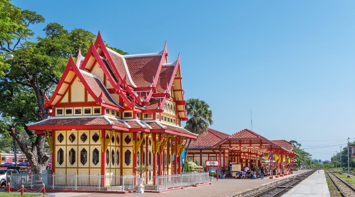 Het treinstation van Hua Hin