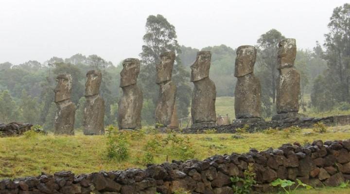 Los siete Moai, Paaseiland