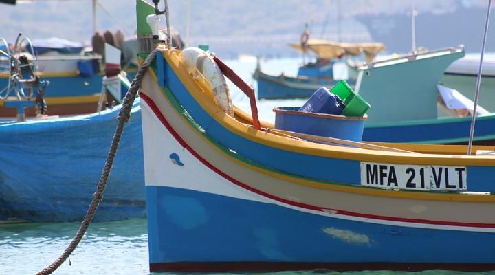 Typisch Maltese vissersbootjes