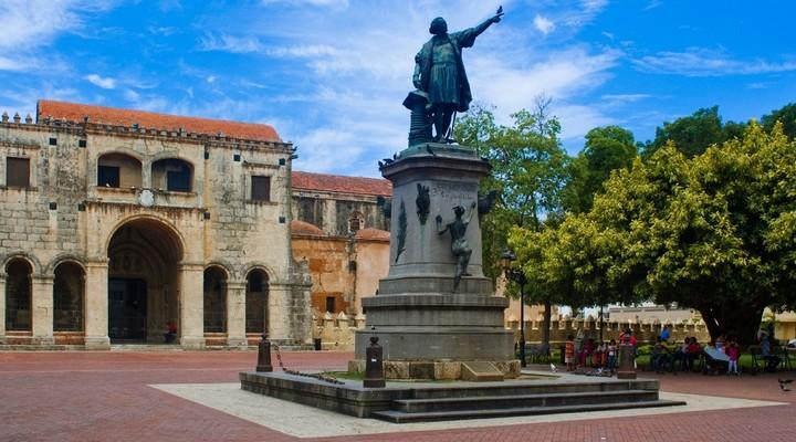Christopher Columbus standbeeld in Santo Domingo