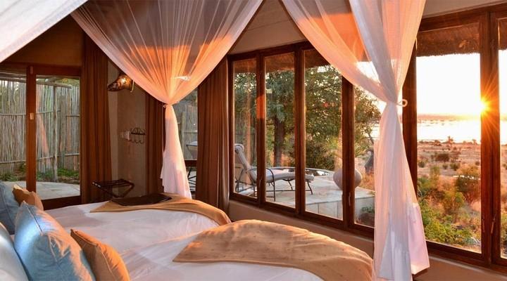 Uitzicht vanuit een Ngoma Safari Lodge