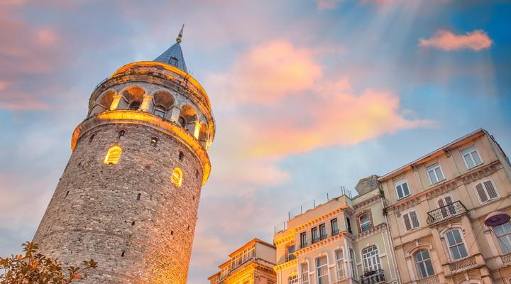 de Galata toren in Istanbul