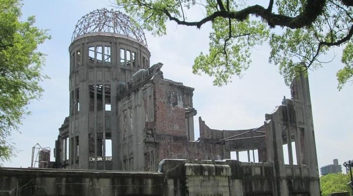Het enige gebouw dat nog overeind is gebleven na de atoombom in Hiroshima