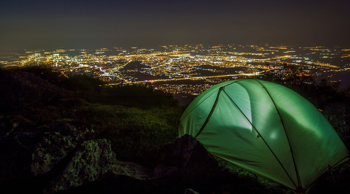 Uitzicht over Sofia vanaf Vitosha Mountain