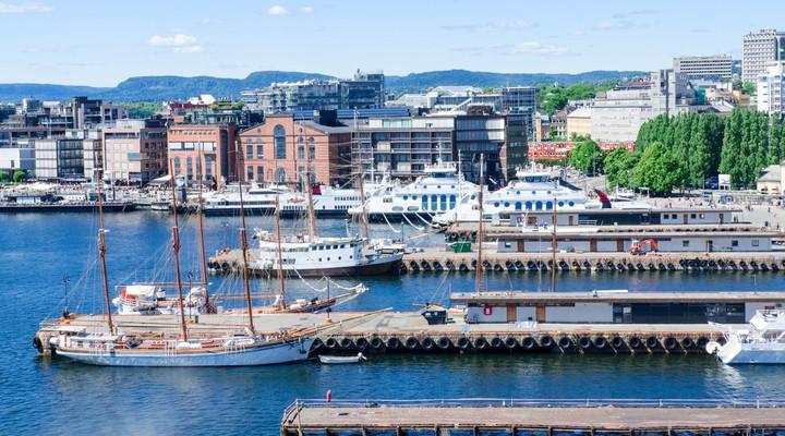 Aker Brygge, centrum Oslo in Noorwegen